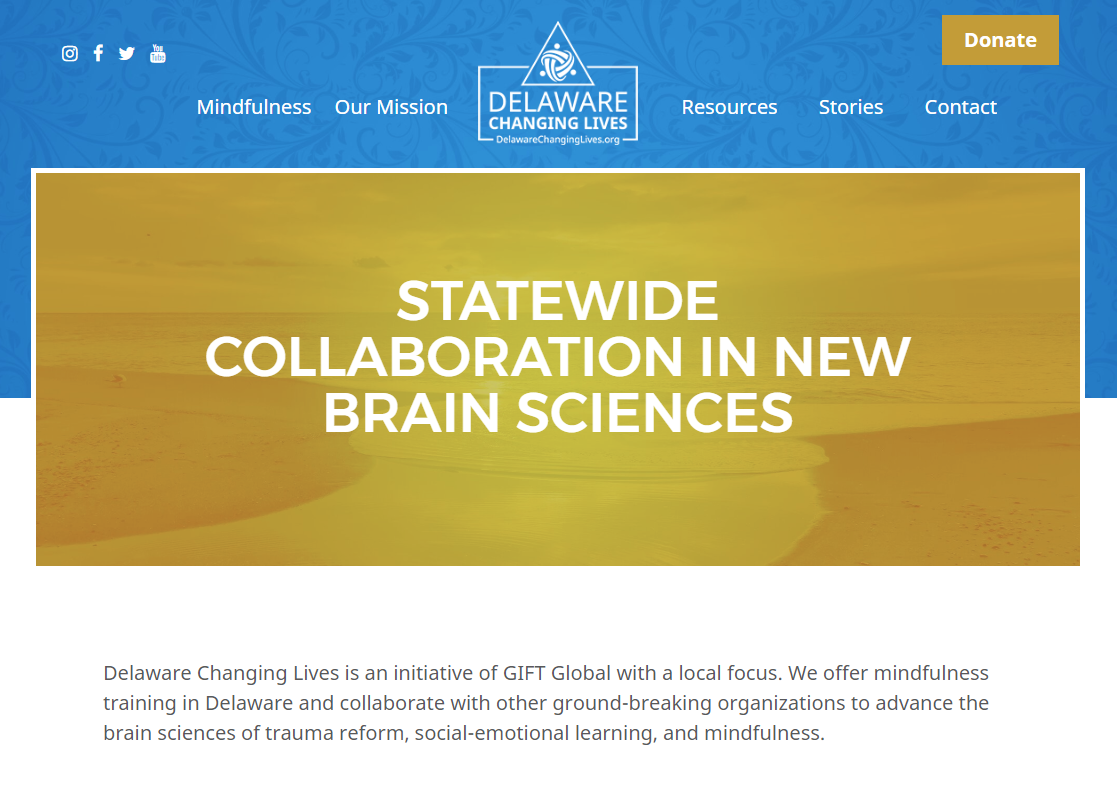 Preview of Delaware Changing Lives website